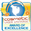 Cosmetic Laser Universe Award of Excellence as one of the best cosmetic laser resources on the Internet