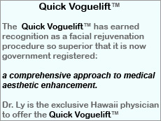 The Quick Vogue Lift is designed to erase up to ten years in one day - on Maui from Aloha Dermatology
